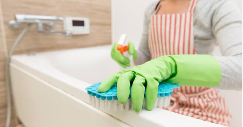 お風呂大掃除